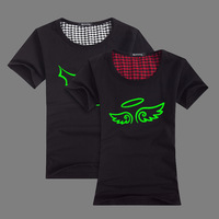 2013 summer lovers short-sleeve 100% o-neck cotton t-shirt luminous demon