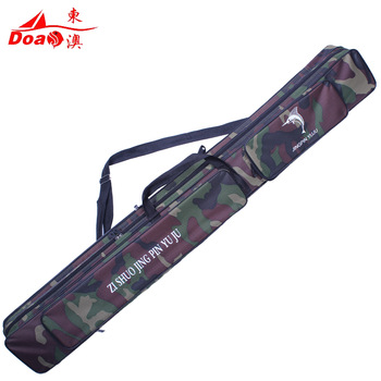 quality Camouflage 2 120 pole bag large capacity fishing tackle pole package bag