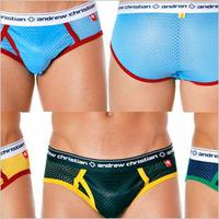 Free shipping  andrew christian sexy mesh panties ac men's trigonometric panties briefs underwear