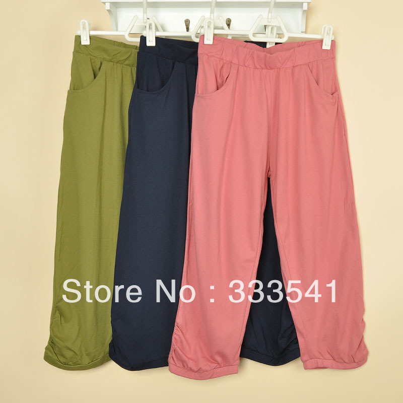 2013 spring and summer women's 7 casual capris plus size 4p(China (Mainland))