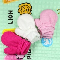 2013 Child winter gloves baby yarn doll gloves baby  kid cap Baby Hat 100%Cotton free shipping
