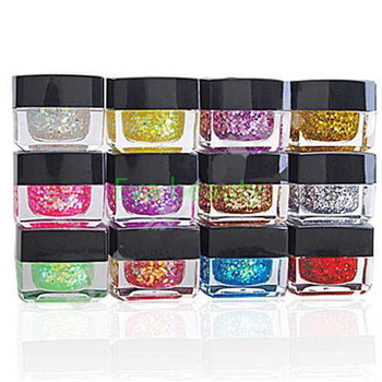 12 Mix Colors Shining Glitter UV Builder Gel Acrylic Nail Art  Tips 8ml