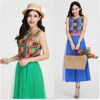 Free shipping new arrival bohemian style high style summer beach dress,with belt