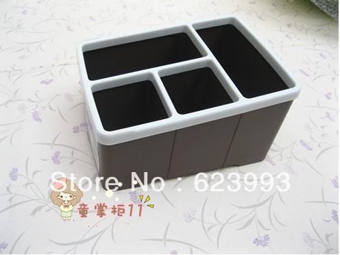 TV remote control holder organizer media storageThree-color box desktop plastic box remote control mobile phone storage box(China (Mainland))