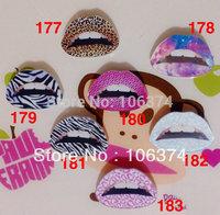 2013 New Hot Sale Acrylic Badge Fashion Colorful Lip Brooch Pins 30pcs/lot Mix items