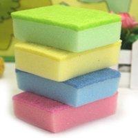 Wholesale 30pcs/lot Colorful magic square nano cleaning sponge eraser wipe random color
