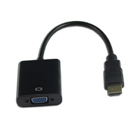 50PCS/LOT with Audio Sound Black HDMI Male to VGA RGB Female HDMI to VGA Video Converter Adapter  for PC PS3 Black