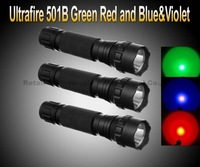 Ultrafire WF-501B Green Red and Blue&Violet LED Flashlight Torch