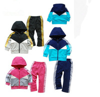 Free Shipping! Baby Kids Toddler Tracksuit Sportwear Hoodies Hoody Outfit Garment Outwear + Pant girl 2pcs set