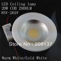 20W COB Ceiling light LED lamp Bulb 85V-265V for home living room illumination 4pcs/lot dhl Free shipping