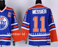 #11 Mark Messier CCM blue, Edmonton ice hockey jerseys
