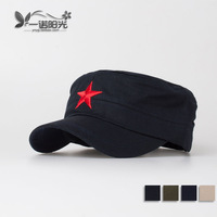 2013 Pentastar red nostalgic cadet military cap hat cap male women's fashion outdoor cap  free shipping