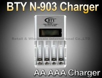 BTY N-903 AA AAA NI-cd Ni-Mh Rechargeable Battery Fast Quick Speed Smart LCD Charger