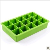 Ice box creative ice cube tray, silicone ice cube tray mold 15 frames