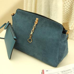 Retro women bag cowhide frosted women leather handbags elegant women messenger bag popular chain shoulder bags