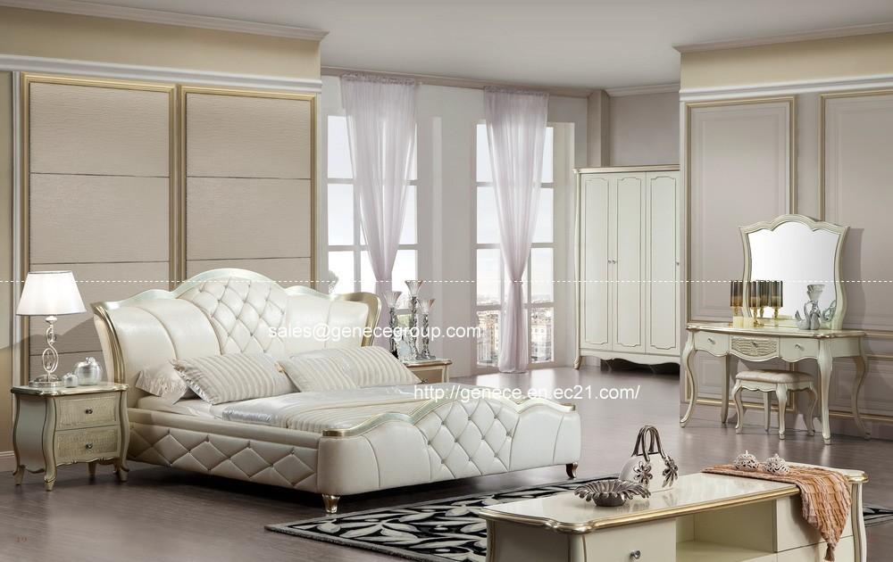 Klassieke Slaapkamer Meubels : Silver Wood Bedroom Furniture