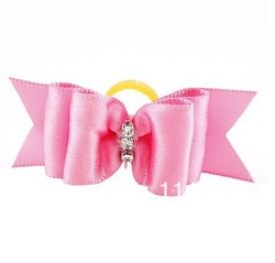 Pure Color Tiny Rubber Band Pet Dog Hair Bow(China (Mainland))