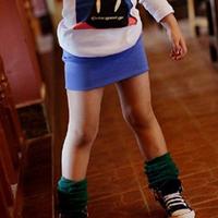 Wholesale Pencil Skirt Children Summer Pretty Wear Girl Solid Color Skirt,4pcs/lot K0204