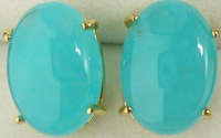 Free shipping Fashion african jewelry Gold plated South American Blue Topaz  Earring