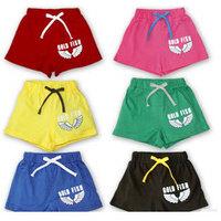 Free Shipping Stylish Shorts Girls Beach Pants Kids Summer Wear,5pcs/lot K0519