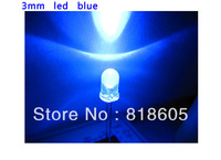 200pcs/Lot 3mm Ultra Bright Blue LED Diode Round Water Clear Wholesale and Retail Free Shipping