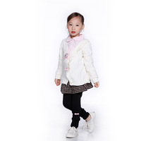 Children's clothing female child all-match cardigan single breasted sweater child sweater female autumn
