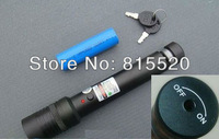 High Power 500MW Green Laser Pointer Adjustable Star Burn Match Laser Pointer Pen +3300 mahbattery +battery charger