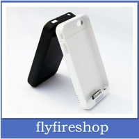 2100mAh External Backup Battery Charger Protective power Case Cover For iPhone 4 4S 20pcs/lot Free shipping