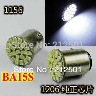 LED car light 24V 1156 BA15S 22 LED 1206 SMD white color car turn brake signal light 1156 Socket(China (Mainland))