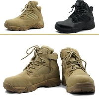 Loveslf Free shippping 5.11 Delta Style Tactical military safety leather Boots Black and Tan army and outdoor training shoes