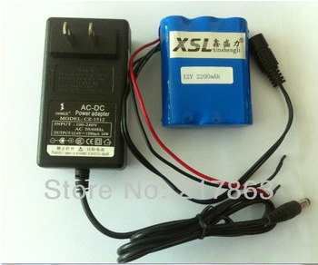 Free shopping Portable 12V Li-ion Super Rechargeable Battery Pack DC for CCTV Camera 2200mAh + 12v charger