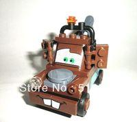 Original Box Bela PIXAR Cars Classic Mater Building Blocks Sets 52pcs Legoland Educational DIY Construction Bricks toys