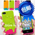 Color 3D Melt Carbonate Melt ice-Cream Skin Hard Case Cover For iPhone 4 4G 4S