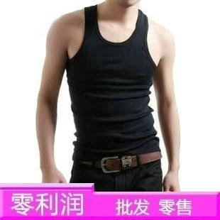 Summer male sports vest undershirt male tank basic 100% slim cotton undershirt(China (Mainland))