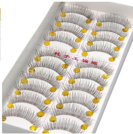 20 Pairs Of Reusable Natural and Regular Long False Eyelashes Artificial Fake Eyelashe(China (Mainland))