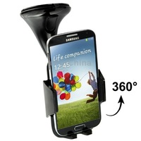 Suction Cup Car Stretch Holder for Samsung Galaxy S IV / i9500 / N7100/ Z10 / HTC / Nokia / Other Mobile Phone(Black)