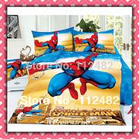 Reactive dyes printed 4pcs Bedding Spider man Bedding Set Children's Free Shipping