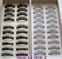 20 Pairs Regular Long and Thick Fake Eyelashes Style 1 and 2