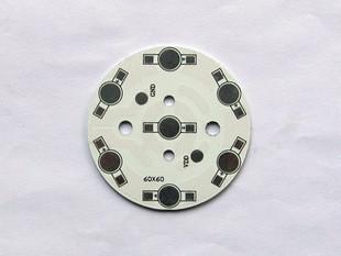 7w aluminum plate 7 1w bulb lamp cup aluminum plate led circuit board cooling plate