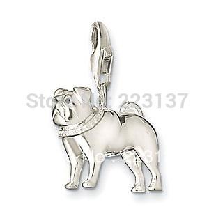fashion lap dog charms/personality dog charms/silver plate dog charms free shipping(China (Mainland))