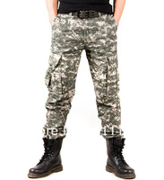 Men's Military Army Pants Woodland Digital Camouflage Cargo Jeans Camouflage trousers HOT - Size 29-36