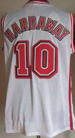 #10 Tim Hardaway Men's Authentic Home White Throwback Basketball Jersey