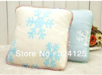 Big sale 50pcs/lots 45*45cm Luxury Flocked thickening snowflake plain cushion cover pillow cases Free Shipping