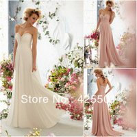 Sexy Fashion New Arrival Sweetheart Beaded Neckline Chiffon A Line Wedding/Bridal Dresses 2013 Free Shipping