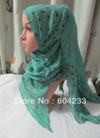 tc239,wholesale free shipping  pashmina scarf 180*50cm assorted colors latest design shivering muslim flower hijabs