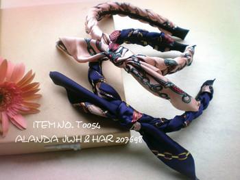freeshipping 12pcs/lot feminine chain pattern ribbon plait headband retro scarf braided bow hairband 4 colors assorted