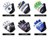New arrival ! 2013  Giant /Branchi /Lampre /BMC Summer Cycling half finger Racing Gloves Bike gloves Size:M L XL