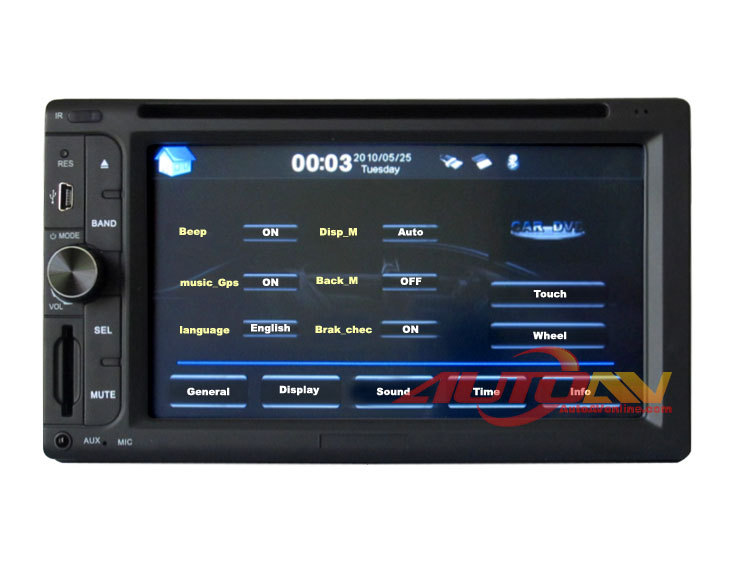 Kaigele Car DVD Player All-in-one Double Din Car DVD player Built-In GPS Navigation Radio TV With 6.2 Inch LCD(China (Mainland))