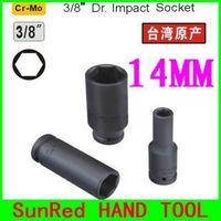 "BESTIR taiwan original chrome molybdenum steel 14mm 6pt 3/8"" Dr.long impact socket hardware tool,NO.62414 wholesale freeshipping"