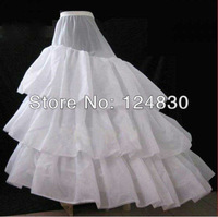 Free Shipping ! Good Price And Quality! Wedding Petticoat Big Train Crinoline 3 Layers Hard Yarns Underskirt